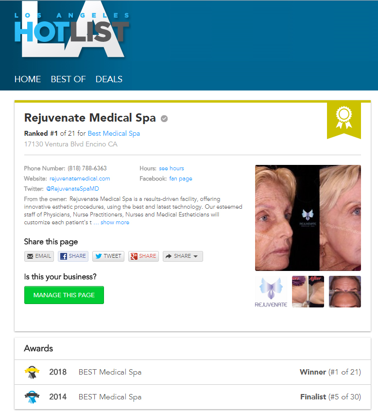 Best Medical Spa Los Angeles Hot List